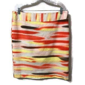 CATO Plus Size Linen Blend Pencil Skirt SIZE 14
